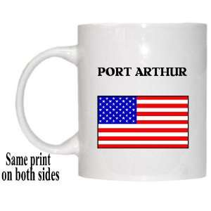 US Flag   Port Arthur, Texas (TX) Mug