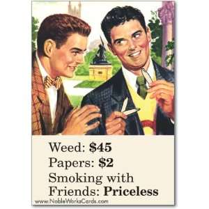 Funny Graduation Card Smoking With Friends Humor Greeting