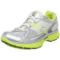 Womens Skechers Ready Set Tone Ups Sport Sneaker Silver/White/Lime