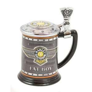 Harley Davidson Fat Boy Franklin Mint Collector Tankard