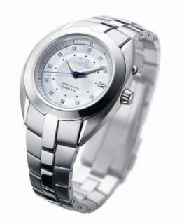 Seiko Womens Arctura Kinetic Mother Of Pearl Dial Diamond Watch
