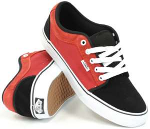 NIB Vans Chukka Low Black Racer Red Men Skate Shoes