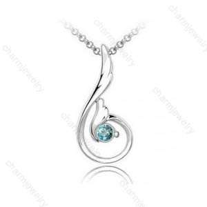 Simple Exquisite Korean Jewelry Crystal Lovely Angel Wings Pendant