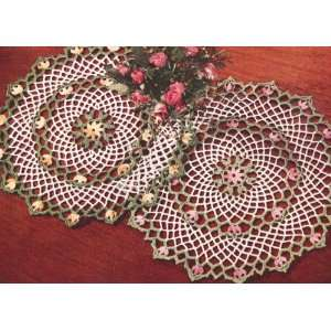 Vintage Crochet PATTERN to make   Blossom Flower Floral Doily. NOT a