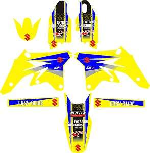 2007 2008 Suzuki RMZ250 RMZ 250 Graphics Decal fender shrouds