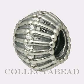 Authentic Pandora Silver Show Stopper Clear CZ Bead