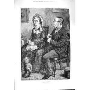 1879 LAST PROPOSAL ROMANEC MAN OLD WOMAN DOG LUCAS ART