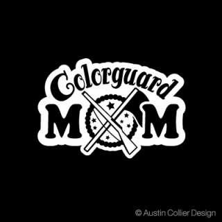 COLORGUARD MOM Vinyl Decal Car Truck Window Sticker
