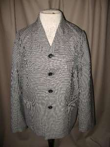 COMME DES GARCONS Black & White Herringbone Jacket Sz M