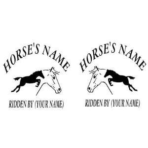 HORSE Trailer Vinyl Decals   2 Custom Vinyl Decals