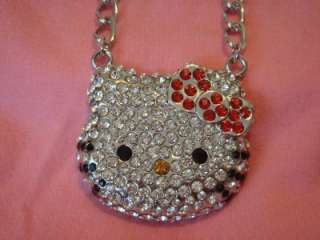 HUGE HELLO KITTY NECKLACE MADE WITH SWAROVSKI CRYSTAL