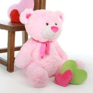 Lulu Shags Plush and Adorable Stuffed Pink Teddy Bear 27in