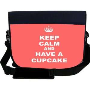 Keep Calm and have a Cupcake   Tropical Pink Color NEOPRENE Laptop