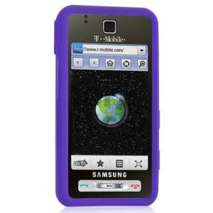 Samsung Behold SGH T919 Purple Silicone Case Cell Phones