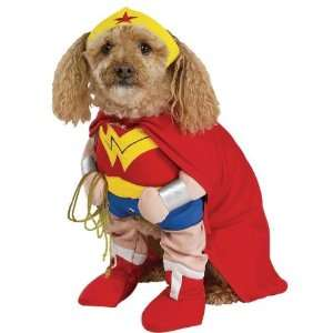 Dog Fancy Dress Costume Wonder Woman Deluxe Size Large