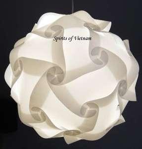 White IQ Light Lamp Shade Modern Design Modern Deco Puzzle Jigsaw