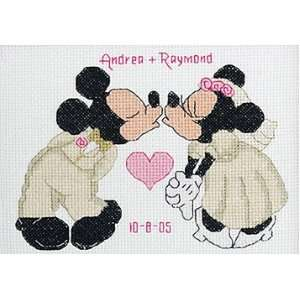 Mickey/Minnie Wedding Sampler Counted Cross Stitch Kit