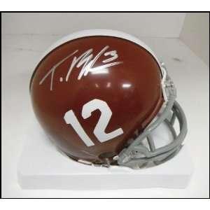 Trent Richardson Autographed/Hand Signed Alabama Mini