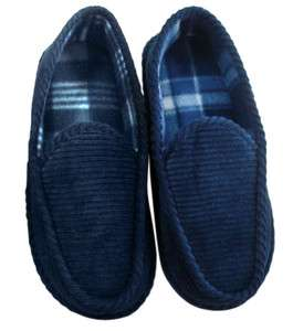 Mens Corduroy Moccasin Slipper Shoe Sizes 7,8,9,10,11,12