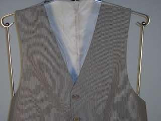 Ralph Lauren Mens Silk/Cotton Suit Vest Brown Beige New NWT Multi Size