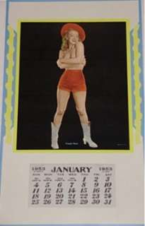 Marilyn Monroe Calendar Caught Short 1953 Champion NM Golden Dreams