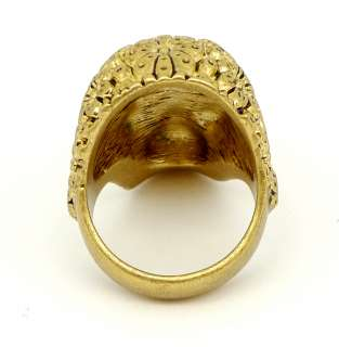 Disney Couture Pirates Gold plated Skull Ring