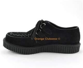 64e4a063356 ... Rockabilly 50s · 602S Womens Black Suede Goth Punk Rave Creepers Retro  Shoes ...