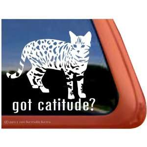 Got Cattitude? ~ Cute Kitty Cat Vinyl Window Decal