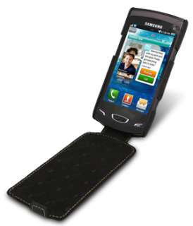 Melkco Premium Leather Case for Samsung Wave II GT S8530/Jacka/Black