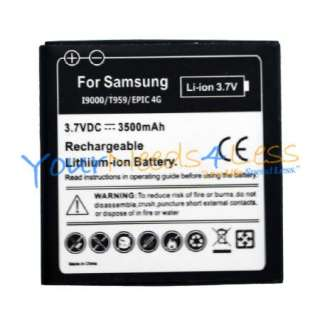 NEW Samsung Galaxy EPIC 4G EXTENDED Battery + Dock Wall Charger Bundle