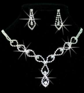 Hottest styles Pretty Wedding/Bridal Czech Crystal Necklace Sets