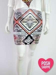 Women Plus Size Clothing Skirt Bodycon Mini Pencil Boho Print Sexy XXL