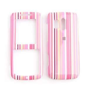 Samsung Messenger R450/R451 (Straight talk) Pink/Orange Stripes Hard