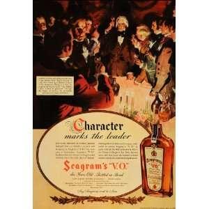 1936 Ad Andrew Jackson Seagrams V. O. Canadian Whiskey