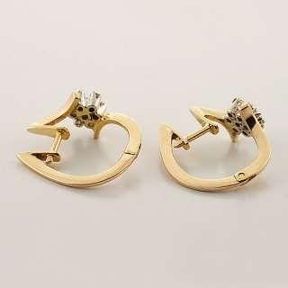 Dazzling Ladies 14K Rose Gold Round Diamond Ring Earring Jewelry Set