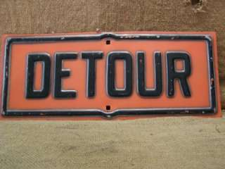 Rare Vintage Road Closed Sign Cats Eye Marble Antique Old