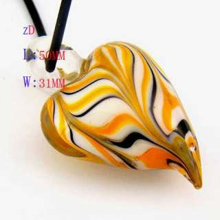 g3245 Decent Murano Lampwork Glass Heart Bead Pendant Necklace Fashion