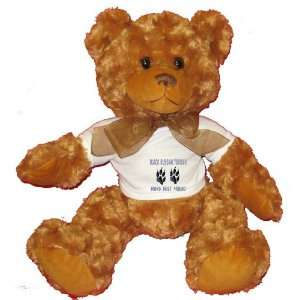 RUSSIAN TERRIER MANS BEST FRIEND Plush Teddy Bear with WHITE T Shirt