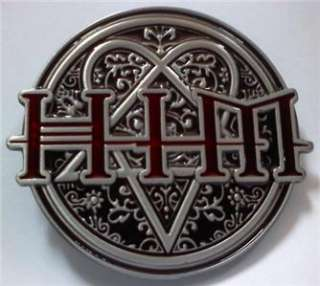 NEW HEARTAGRAM HIM ROCK MUSIC SKATEBOARD BELT BUCKLE!!