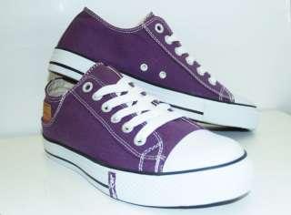 Levis Buck Lo Canvas Purple Low Top Shoes