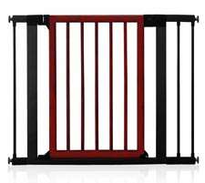 Munchkin Wood and Steel Designer Gate, Dark Wood/Silver Baby