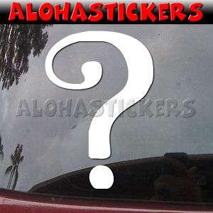 THE RIDDLER Question Mark Vinyl Decal Car Sticker M276