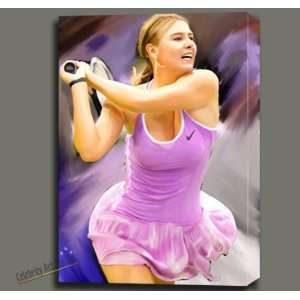 MARIA SHARAPOVA DIGITAL OIL PAINTING ON CANVAS MOUNTED W GALLERY WRAP