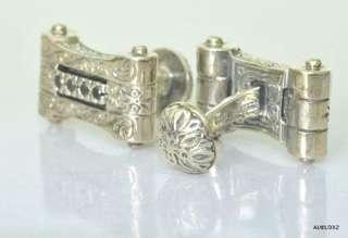 New KONSTANTINO Mens Sterling Silver Black Diamond Cufflinks