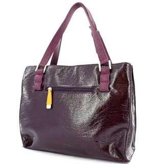 New Nicole Lee GWEN Rhinestone Studded Tote Style Bag  Purple