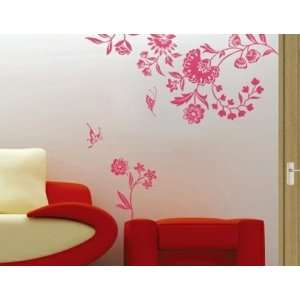 DIY Home Décor Artistic Flowers PVC Wall Decal Stickers