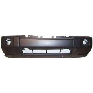 TKY AM04025BC DK5 Jeep Commander Primed Black Replacement Front Bumper
