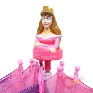 Disney Princess w/Tiana Kids Umbrella w/ Belle Figure Handel  Pink