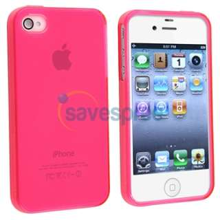 ACCESSORY for Apple iPhone 4S 4 G PINK CASE+PRIVACY FILM+CAR+WALL