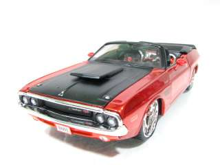 Maisto 1970 Dodge Challenger RT Conv Copper / Black 1/24 N/B Diecast